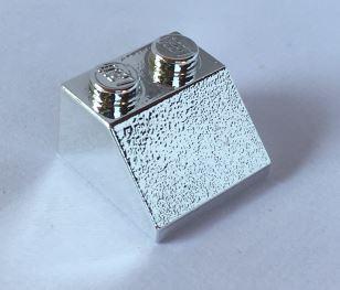 Chrome Silver Slope 45 2 x 2  3039 or 6227 Custom Chromed by BUBUL