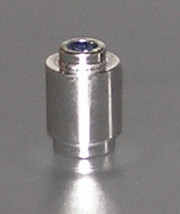 3062_Chrome Silver Brick, Round 1 x 1 Open Stud Part: 3062b Custom Chromed by Bubul