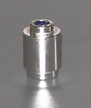 3062_Chrome Silver Brick, Round 1 x 1 Open Stud Part: 3062b Custom Chromed by Bubul
