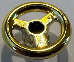30663_Chrome GOLD Vehicle, Steering Wheel Small, 2 Studs Diameter  30663 or 16091 Custom Chromed by BUBUL