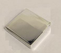 Chrome Silver Tile 2 x 2 with Groove    Part: 3068 3068b   Custom Chromed by Bubul