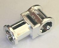 32039 Chrome Silver Technic, Axle Connector with Axle Hole   32039  Custom Chromed by BUBUL