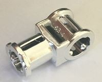 32039 Chrome Silver Technic, Axle Connector with Axle Hole   32039  Custom Chromed by BUBUL