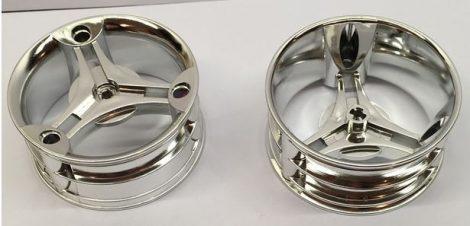 Chrome Silver Wheel 70 x 28 mm Futuristic  32077 Custom Chromed by BUBUL