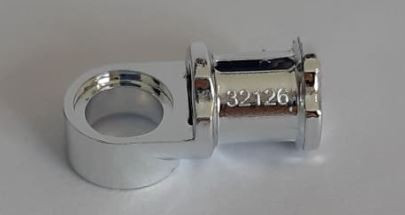 Chrome Silver Technic, Axle and Pin Connector Toggle Joint Smooth  44 or 32126 Custom Chromed by BUBUL