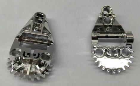 Chrome Silver Technic, Gearbox Half  32166 Custom Chromed by BUBUL