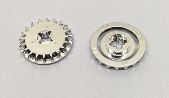 Chrome Silver Technic, Gear 20 Tooth Bevel  32198 Custom Chromed by BUBUL
