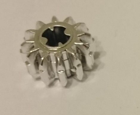 Chrome Silver Technic, Gear 12 Tooth Double Bevel : 32270 Custom chromed by BUBUL