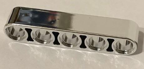 32316 Chrome Silver Technic, Liftarm 1 x 5 Thick  Custom chromed by Bubul