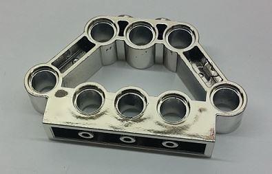 Chrome Silver Technic, Pin Connector Block 1 x 5 x 3  Part: 32333  Custom Chromed by Bubul
