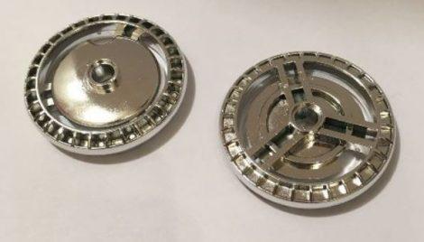 Chrome Silver Technic, Disk 5 x 5 - Notched  32439 Custom Chromed by BUBUL