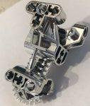 32489 Chrome Silver Bionicle Body Torso Trunk Gearbox Custom Chromed by BUBUL