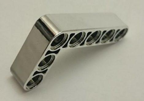 Chrome Silver Technic, Liftarm 3 x 5 L-Shape Thick  32526 Custom chromed by Bubul