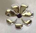 32606 Chrome Silver Friends Accessories Flower with 7 Thick Petals and Pin Custom Chromed by BUBUL