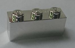 Chrome Silver Brick 1 x 3   3622 or 45505  Custom Chromed by BUBUL
