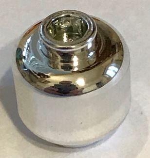 3626 Chrome Silver Minifig, - Head (Plain) - Hollow Stud   3626c or 30011c or 3626  Custom Chromed by BUBUL