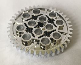 Chrome Silver Technic, Gear 40 Tooth Part:3649 chromed by Bubul