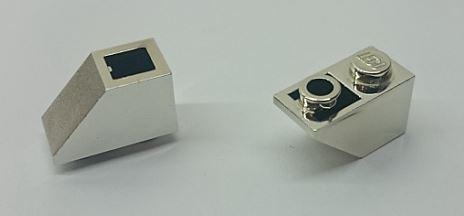 3665 Chrome Silver Slope, Inverted 45 2 x 1 Custom Chromed by BUBUL