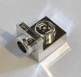 Chrome Silver Bracket 1 x 1 - 1 x 1 Inverted  36840 Custom Chromed by BUBUL