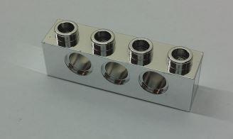 Chrome Silver Technic, Brick 1 x 4 with Holes  3701 Custom chromed by BUBUL