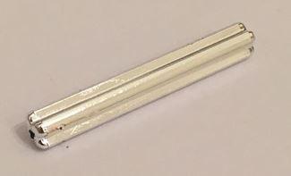 Chrome Silver Technic, Axle 6  Part: 3706 Custom chromed by BUBUL