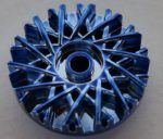 39195 Chrome BLUE Wheel Cover 28 Spoke - 18mm D. - for Wheel 56145  37195 Custom Chromed by BUBUL