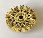 39195 Chrome GOLD Wheel Cover 28 Spoke - 18mm D. - for Wheel 56145  37195 Custom Chromed by BUBUL