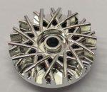 37195 Chrome Silver Wheel Cover 28 Spoke - 18mm D. - for Wheel 56145  37195 Custom Chromed by BUBUL