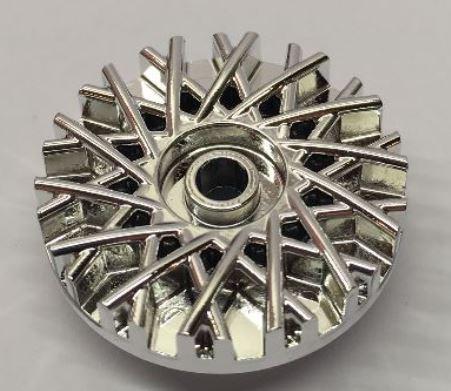 39195 Chrome Silver Wheel Cover 28 Spoke - 18mm D. - for Wheel 56145  37195 Custom Chromed by BUBUL