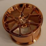 Chrome COPPER Wheel 62.3mm D. x 42mm Technic Racing Large part: 37383 or 35187 Custom Chromed by Bubul