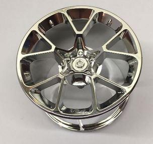 Chrome Silver Wheel 62.3mm D. x 42mm Technic Racing Large 37383 or 35187 Custom Chromed by Bubul Bugatti rim