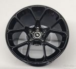 37383_T Chrome Black Chrome-Titan Wheel 62.3mm D. x 42mm Technic Racing Large with Silver Outline Pattern   part 37383 Custom Chromed by Bubul