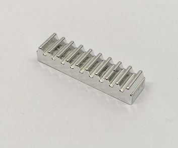Chrome Silver Technic, Gear Rack 1 x 4  3743 Custom chromed by BUBUL