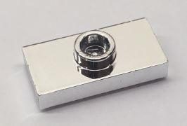Chrome Silver Plate, Modified 1 x 2 with 1 Stud (Jumper)    3794 similar mold type 15573  Custom chromed by Bubul