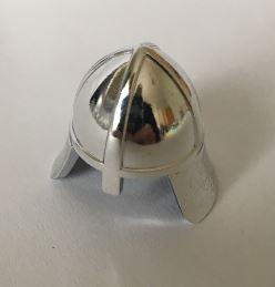 Chrome Silver Minifig, Headgear Helmet Castle with Neck Protector   Part:3844 chromed by Bubul