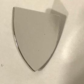 Chrome Silver Minifig, Shield Triangular   Part: 3846  Custom chromed by Bubul