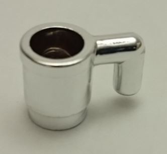 Chrome Silver Minifig, Utensil Cup  3899 or 6264 Custom chromed by Bubul