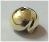 Chrome Gold Minifig, Headgear Hair Male  Original LEGO(R) Part: 3901  Custom Chromed by Bubul
