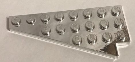 Chrome Silver Wedge, Plate 8 x 4 Wing Left   3933  Custom chromed by Bubul