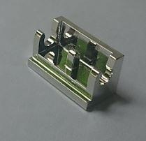 Chrome Silver Hinge Brick 1 x 2 Base  3937 Custom Chromed by BUBUL