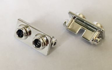 Chrome Silver Hinge Brick 1 x 2 Top Plate Thin  3938 Custom Chromed by BUBUL