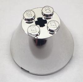 Chrome Silver Cone 4 x 4 x 2 with Axle Hole  3943 3943b Custom Chromed by BUBUL