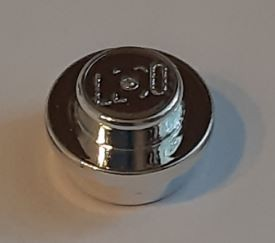 4073 Chrome Silver Plate, Round 1 x 1 Straight Side   Part:4073 or 6141 Custom chromed by Bubul