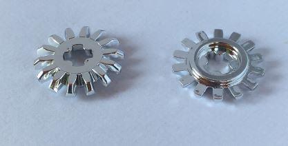 Chrome Silver Technic, Gear 14 Tooth Bevel  4143 Custom Chromed by BUBUL