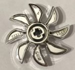 41530 Chrome Silver Propeller 8 Blade 5 Diameter  Part: 41530 Custom Chromed by Bubul