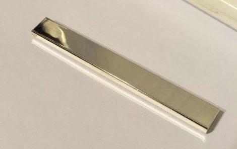4162 Chrome Silver Tile 1 x 8  Custom Chromed by BUBUL