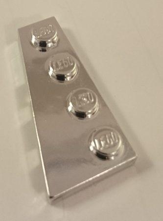 Chrome Silver Wedge, Plate 4 x 2 Left  41770 Custom chromed by Bubul