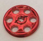 4185 Chrome-RED Technic Wedge Belt Wheel (Pulley)  Part 4185 Custom Chromed by BUBUL