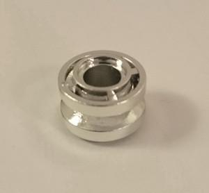 Chrome Silver Wheel 11mm D. x 8mm with Center Groove   42610  Custom chromed by Bubul