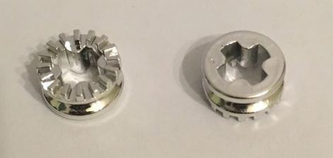 Chrome Silver Technic Bush 1/2 Toothed Type I  4265a Custom Chromed by Bubul